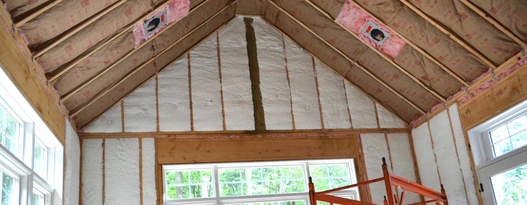 Insulation in rafters and studs