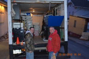 two men by Lehigh Valley Insulation truck