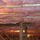 pink insulation in ceiling