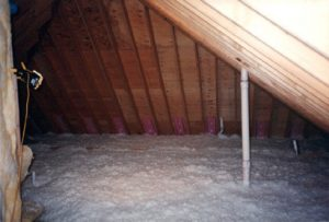 insulated floor of attic
