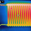 thermal image of a radiator